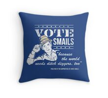 Vote Smails Throw Pillow