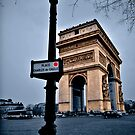 Arc de Triomphe in Paris by John Miner