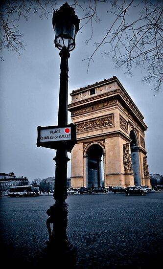 Arc de Triomphe in Paris by John Miner