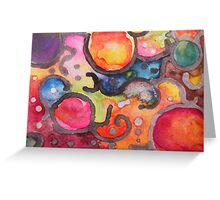 Multicolor Abstract Watercolor by Candace Byington Greeting Card