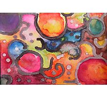 Multicolor Abstract Watercolor by Candace Byington Photographic Print
