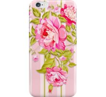 Pink petals and green leaves. iPhone Case/Skin