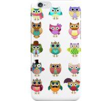 Cute Owls Set iPhone Case/Skin