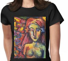 Ancient Fertility Goddess of Mexico Womens Fitted T-Shirt
