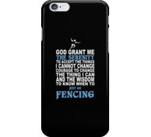 Funny Fencing - Custom Tshirts iPhone Case/Skin
