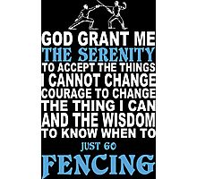 Limited Edition Fencing Tshirts Photographic Print