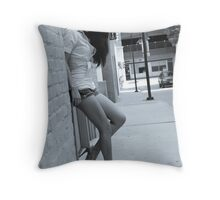 Youth beyond her years Throw Pillow