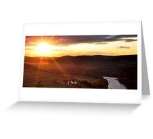 Sunset over Towanda, PA Greeting Card