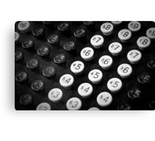 Adding Machine Canvas Print