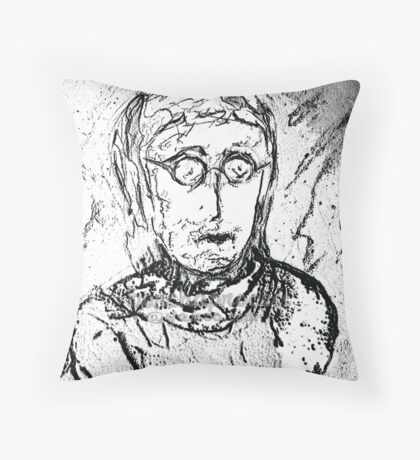 Lenon       bw sk    barchaProcess Throw Pillow