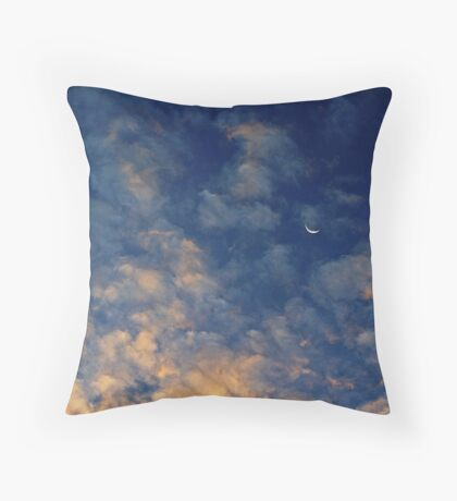 Moonset over St. Simons Throw Pillow