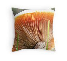 Orange gills Throw Pillow