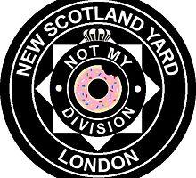 """""""Not my division!"""" Lestrade NSY Badge by mo-ri"""