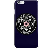 """""""Not my division!"""" Lestrade NSY Badge iPhone Case/Skin"""