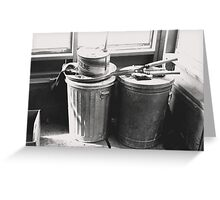 Garbage Cans Greeting Card