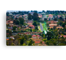 "Suburban ""scaled model"" Canvas Print"
