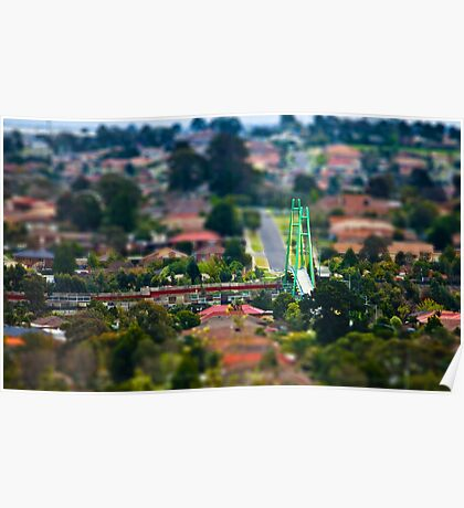 """Suburban """"scaled model"""" Poster"""