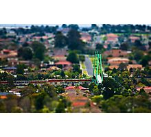 "Suburban ""scaled model"" Photographic Print"