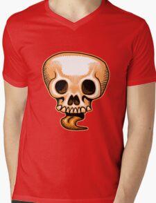 Halloween Skull Tongue Mens V-Neck T-Shirt