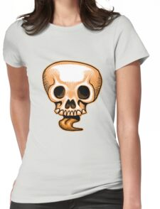 Halloween Skull Tongue Womens Fitted T-Shirt