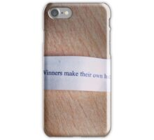 Winners make their own luck fortune cookie iPhone Case/Skin