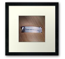 Winners make their own luck fortune cookie Framed Print