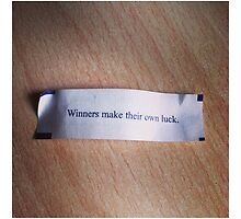 Winners make their own luck fortune cookie by SanFranciscoWWC