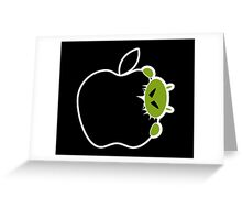 Android Bite Apple Greeting Card