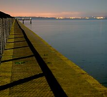 Kauri point jetty at night by Paul Mercer