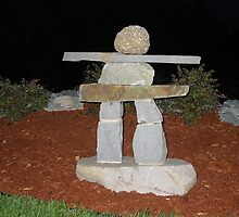 Nova Scotia Inukshuk night by stonemedium