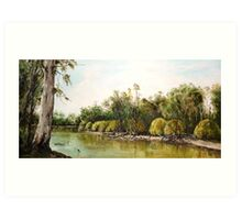 On The Banks Of The Murry River Art Print