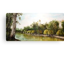 On The Banks Of The Murry River Canvas Print