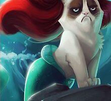 Little Mermaid Cat by tekelronaldo
