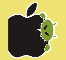 Android Bite Apple Baby Tee