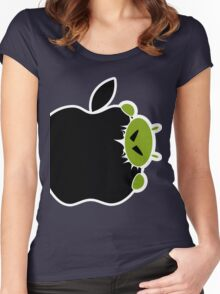 Android Bite Apple Women's Fitted Scoop T-Shirt