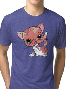 Littlest Pet Shop Cat Tri-blend T-Shirt