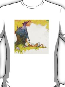sleeping cute calvin hobbes T-Shirt
