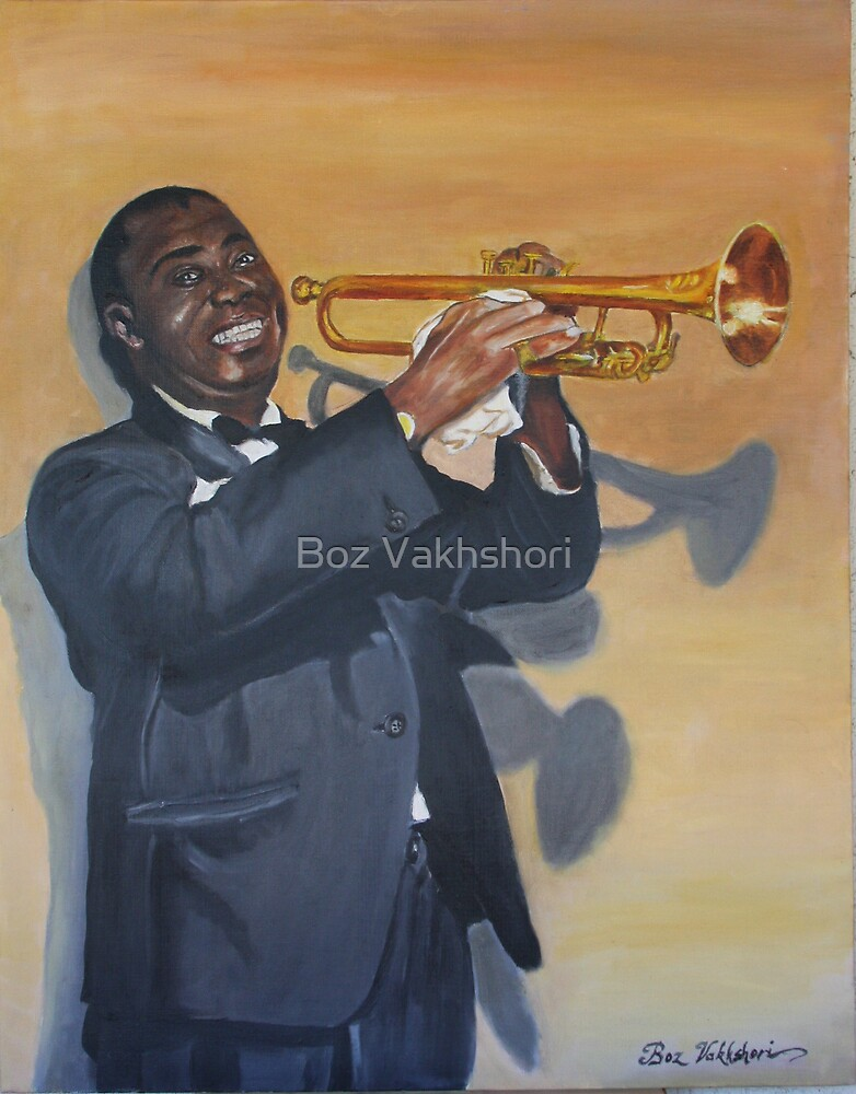 Louis Armstrong by Boz Vakhshori
