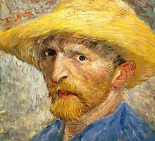 Vincent Van Gogh self portait by Acosmist
