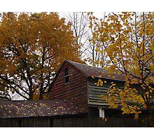 The Falling Barn Photographic Print