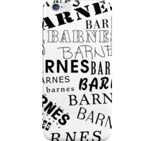 Barnes Surname Design iPhone Case/Skin