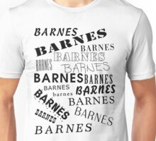 Barnes Surname Design Unisex T-Shirt