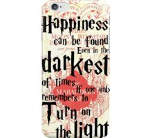 Happiness Quote Harry Potter iPhone Case/Skin