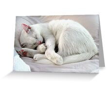 White as a Sheet Greeting Card