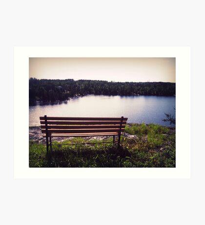 open bench Art Print