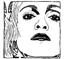 Maze-Donna - Maze Portrait of Madonna Photographic Print