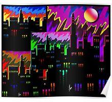 """IntenseCity: Urban LED"" Poster"