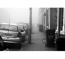 Foggy Morning on Collection Day Photographic Print