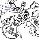 Music Mural by MissTemptress