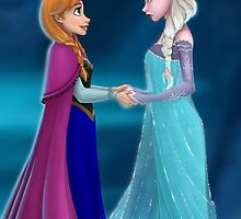 Elsa And Anna by MonaLisaArt